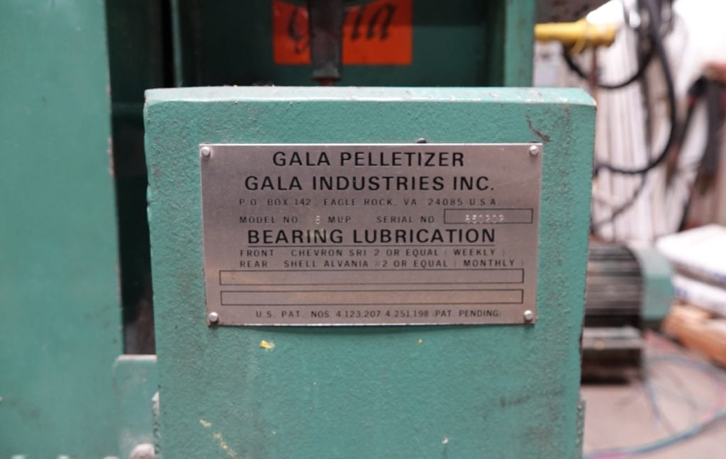 Gala Pelletizer With Dryer