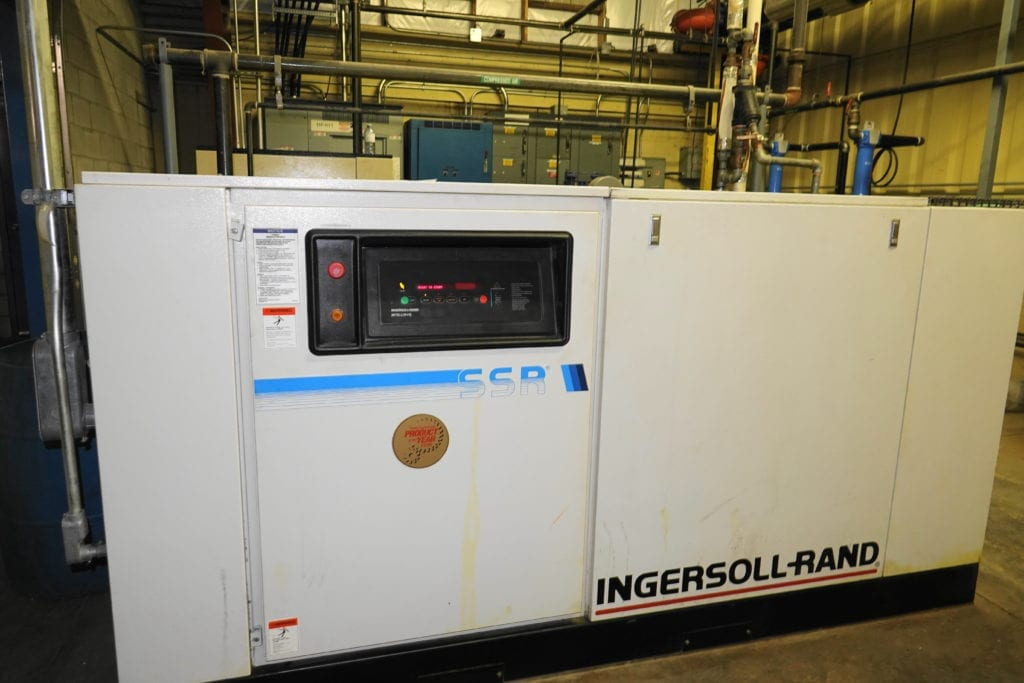 Ingersoll-Rand 100 HP Air Compressor with dessicant dryer