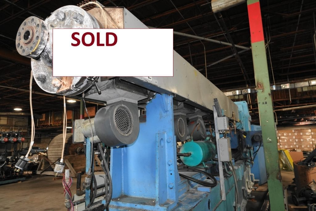 "NRM 6"" Extruder 36:1 with spare screw, 300 hp drive  $30000 USD"