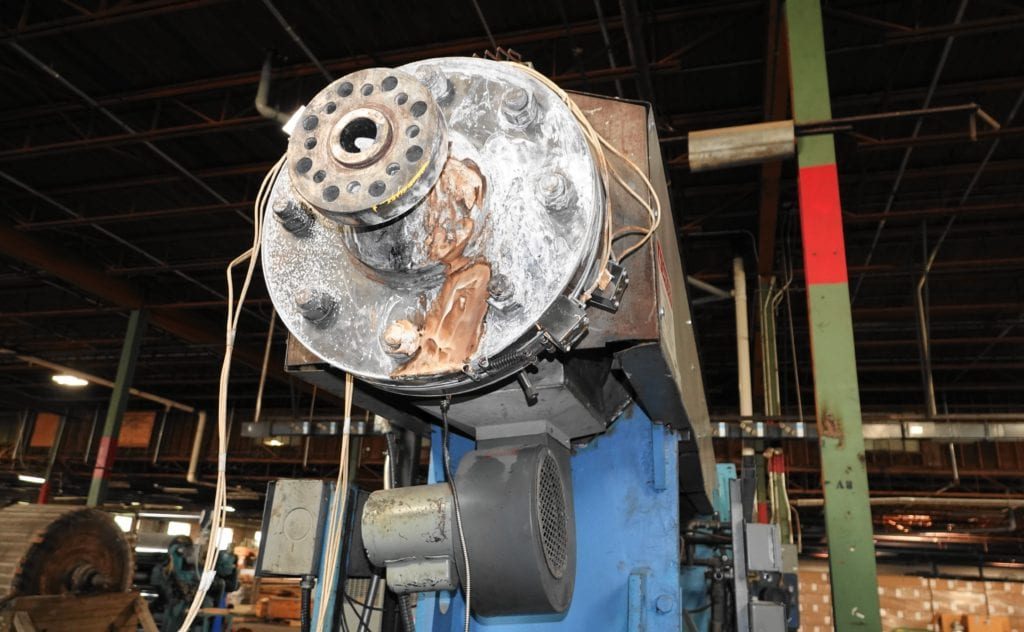 "NRM 6"" Extruder with 2 screws 34:1, 400 hp DC drive $30000 USD"